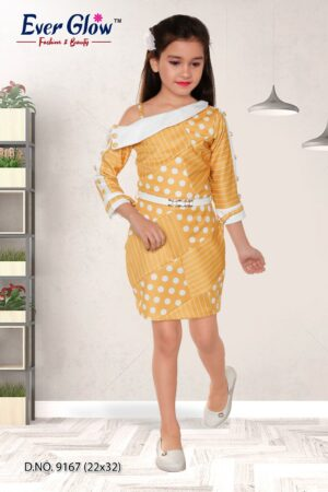 Yellow Polka Dot Off-Shoulder Dress