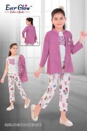 Lilac Floral Three-Piece Suit