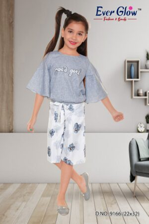 Blue Top and Floral Palazoo Set