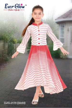 Red & White Fit and Flare Dress