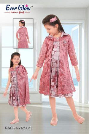 Pink Dress and Jacket Set