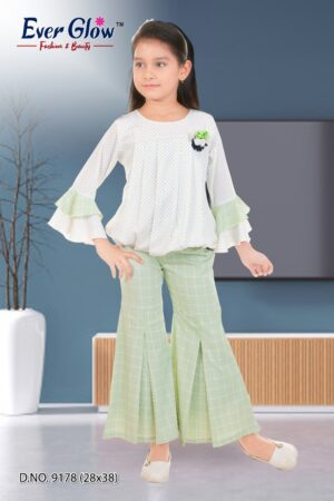 Bell Sleeve Top and Bell Bottom Set