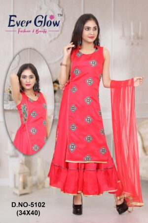 Red Angrakha Suit Set