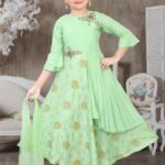 Green Tailored Anarkali Suit Set