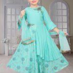 Blue Tailored Anarkali Suit Set