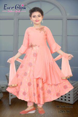 Pink Tailored Anarkali Suit Set