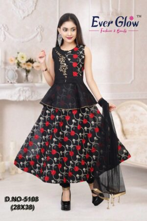 Black Layered Choli Suit