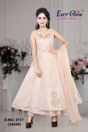 Ivory Embroidered Layered Suit Set
