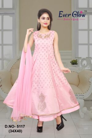 Baby Pink Embroidered Layered Suit Set